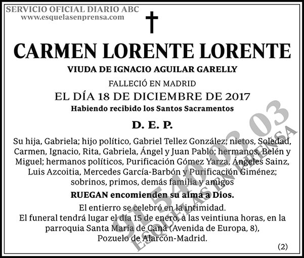 Carmen Lorente Lorente